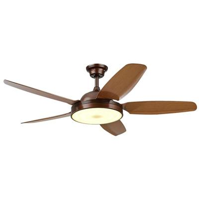 HJ026 European Ceiling Fans With Lights And 5 Coffee Wooden Fan Blades