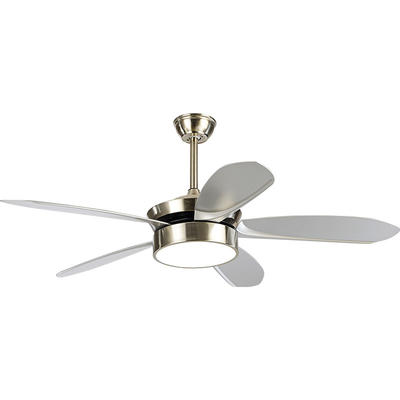 European Style Ceiling Fans With LED Lights And 5 Coffee ABS Plastic Fan Blades HJ2016