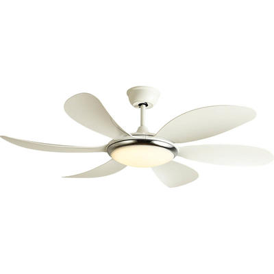 European Ceiling Fan Light Fixtures With 6 White ABS Plastic Fan Blades HJ513