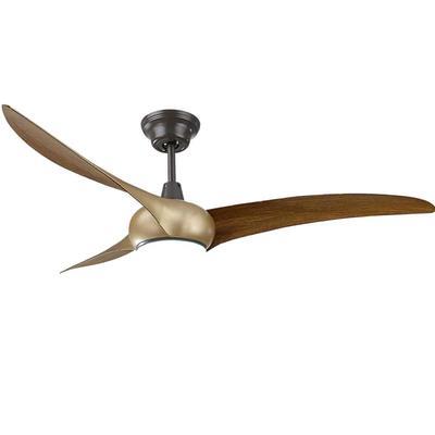 HJ025 American style ceiling fan light kit with 3 brown ABS plastic fan blades