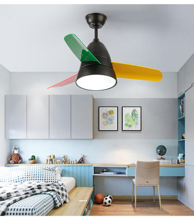 HJ001 American Style Three Blade Ceiling Fan With Light